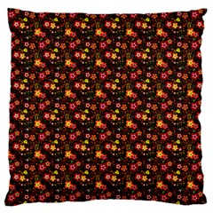 Exotic Colorful Flower Pattern Large Cushion Case (one Side) by Brittlevirginclothing