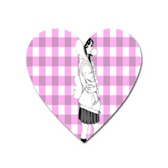 Cute Anime Girl Heart Magnet by Brittlevirginclothing