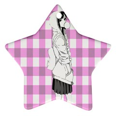 Cute Anime Girl Star Ornament (two Sides)  by Brittlevirginclothing