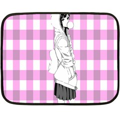 Cute Anime Girl Fleece Blanket (mini) by Brittlevirginclothing