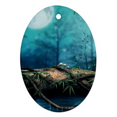 Fantasy Nature  Ornament (oval)  by Brittlevirginclothing