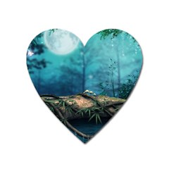 Fantasy Nature  Heart Magnet by Brittlevirginclothing
