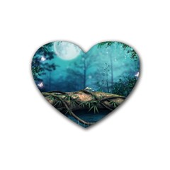 Fantasy Nature  Heart Coaster (4 Pack)  by Brittlevirginclothing