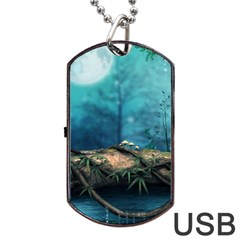 Fantasy Nature  Dog Tag Usb Flash (two Sides)  by Brittlevirginclothing