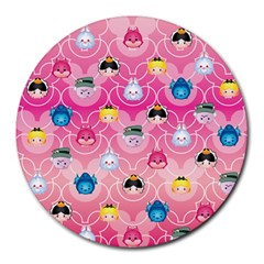Alice In Wonderland Round Mousepads by reddyedesign