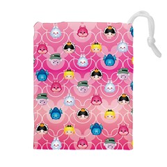 Alice In Wonderland Drawstring Pouches (extra Large) by reddyedesign