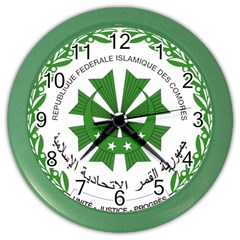 National Seal Of The Comoros Color Wall Clocks