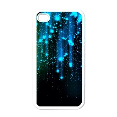 Abstract Stars Falling  Apple Iphone 4 Case (white) by Brittlevirginclothing