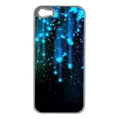 Abstract Stars Falling  Apple Iphone 5 Case (silver) by Brittlevirginclothing