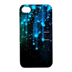 Abstract Stars Falling  Apple Iphone 4/4s Hardshell Case With Stand by Brittlevirginclothing