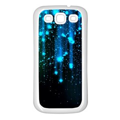 Abstract Stars Falling  Samsung Galaxy S3 Back Case (white) by Brittlevirginclothing