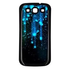 Abstract Stars Falling  Samsung Galaxy S3 Back Case (black) by Brittlevirginclothing