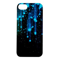 Abstract Stars Falling  Apple Iphone 5s/ Se Hardshell Case by Brittlevirginclothing