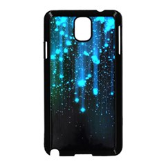 Abstract Stars Falling  Samsung Galaxy Note 3 Neo Hardshell Case (black) by Brittlevirginclothing