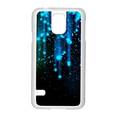 Abstract Stars Falling  Samsung Galaxy S5 Case (white) by Brittlevirginclothing