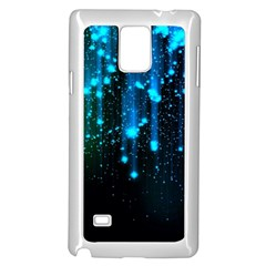 Abstract Stars Falling  Samsung Galaxy Note 4 Case (white) by Brittlevirginclothing