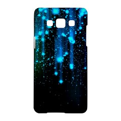 Abstract Stars Falling  Samsung Galaxy A5 Hardshell Case  by Brittlevirginclothing