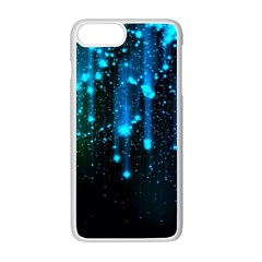 Abstract Stars Falling  Apple Iphone 7 Plus White Seamless Case by Brittlevirginclothing