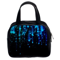 Abstract Stars Falling  Classic Handbags (2 Sides) by Brittlevirginclothing