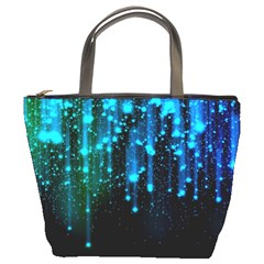 Abstract Stars Falling  Bucket Bags by Brittlevirginclothing