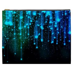 Abstract Stars Falling  Cosmetic Bag (xxxl)  by Brittlevirginclothing