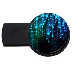 Abstract Stars Falling Usb Flash Drive Round (2 Gb)  by Brittlevirginclothing