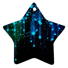 Abstract Stars Falling Star Ornament (two Sides)  by Brittlevirginclothing