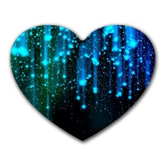 Abstract Stars Falling Heart Mousepads by Brittlevirginclothing