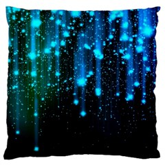 Abstract Stars Falling Large Cushion Case (two Sides) by Brittlevirginclothing