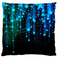 Abstract Stars Falling Large Flano Cushion Case (one Side) by Brittlevirginclothing