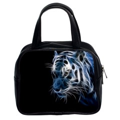 Ghost Tiger  Classic Handbags (2 Sides) by Brittlevirginclothing