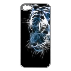 Ghost Tiger Apple Iphone 5 Case (silver) by Brittlevirginclothing