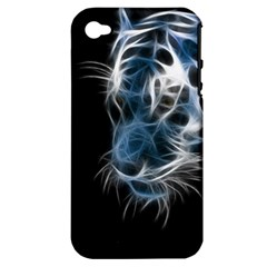 Ghost Tiger Apple Iphone 4/4s Hardshell Case (pc+silicone) by Brittlevirginclothing