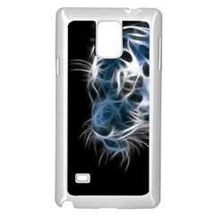 Ghost Tiger Samsung Galaxy Note 4 Case (white) by Brittlevirginclothing