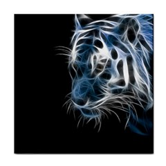 Ghost Tiger Tile Coasters by Brittlevirginclothing