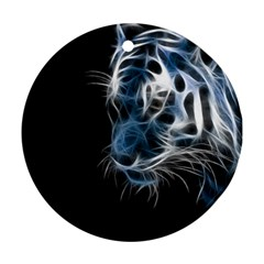Ghost Tiger Ornament (round)  by Brittlevirginclothing