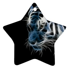 Ghost Tiger Ornament (star)  by Brittlevirginclothing