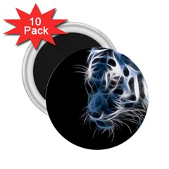 Ghost Tiger 2 25  Magnets (10 Pack)  by Brittlevirginclothing