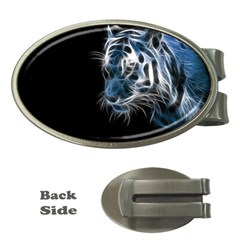 Ghost Tiger Money Clips (oval)  by Brittlevirginclothing