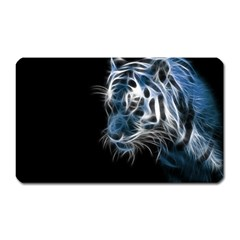 Ghost Tiger Magnet (rectangular) by Brittlevirginclothing