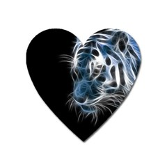 Ghost Tiger Heart Magnet by Brittlevirginclothing