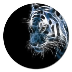 Ghost Tiger Magnet 5  (round) by Brittlevirginclothing