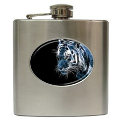 Ghost Tiger Hip Flask (6 Oz) by Brittlevirginclothing