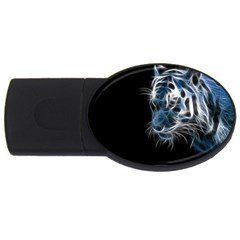 Ghost Tiger Usb Flash Drive Oval (2 Gb)  by Brittlevirginclothing