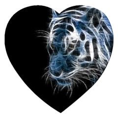 Ghost Tiger Jigsaw Puzzle (heart) by Brittlevirginclothing