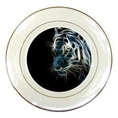 Ghost Tiger Porcelain Plates by Brittlevirginclothing