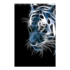 Ghost Tiger Shower Curtain 48  X 72  (small)  by Brittlevirginclothing