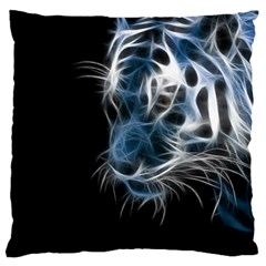 Ghost Tiger Large Cushion Case (two Sides) by Brittlevirginclothing