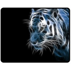 Ghost Tiger Double Sided Fleece Blanket (medium)  by Brittlevirginclothing