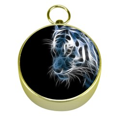 Ghost Tiger Gold Compasses by Brittlevirginclothing